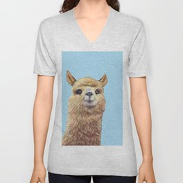 cute alpaca Unisex V-Neck
