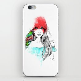 Parrot and Me iPhone Skin