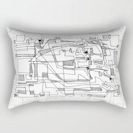 Conversation - b&w Rectangular Pillow