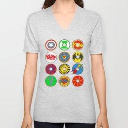 Superhero Donuts Unisex V-Neck
