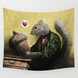 Mr. Squirrel Loves His Acorn! Wall Tapestry