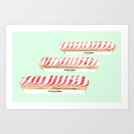 FRENCH ECLAIR  Art Print