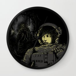 Space Horror Wall Clock