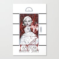 ahs Canvas Prints featuring AHS Countess by Sergiomonster
