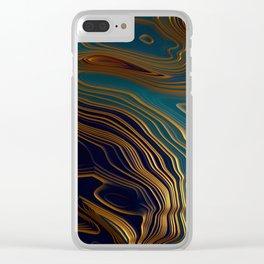 Peacock Ocean Clear iPhone Case