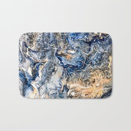 Breaking Waves Abstract Painting Bath Mat