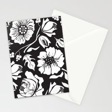 Black Russian Floral Stationery Cards