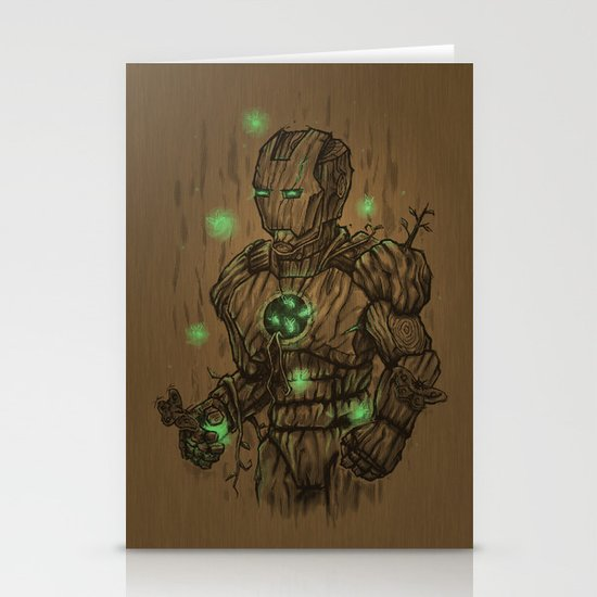 Wooden Man Stationery Cards
