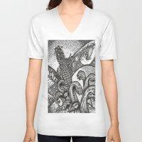 japan V-neck T-shirts featuring Japan by Alabaster & Ink