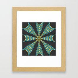 Deco Star Framed Art Print