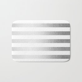 Simply Striped Moonlight Silver Bath Mat