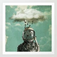 rain Art Prints featuring Rain by Seamless