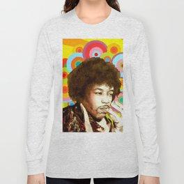 Jimi Hendrix (Peace & Love) Long Sleeve T-shirt