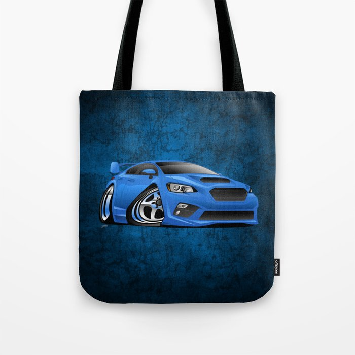 Import Sports Sedan Cartoon Illustration Tote Bag