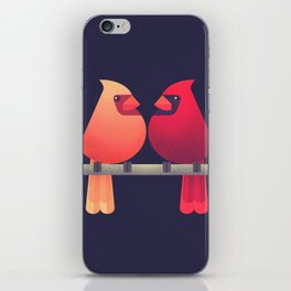 Northern Cardinals on a Japanese Maple iPhone Skin