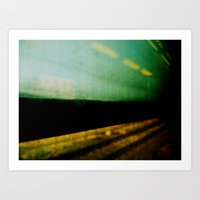 train Art Prints featuring train by sustici
