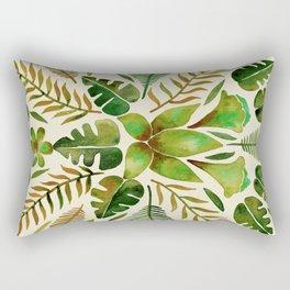 Tropical Symmetry – Olive Green Rectangular Pillow