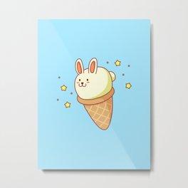 Bunny-lla Ice Cream Metal Print