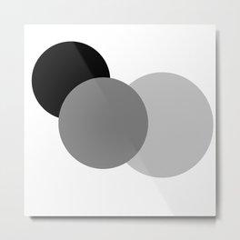 Gray White Black : Mod Circles Metal Print