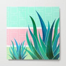 Palm Springs Mood ~ Midcentury Succulents Metal Print