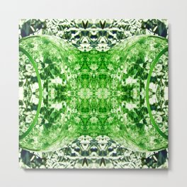 Green Splitting Spheres Metal Print