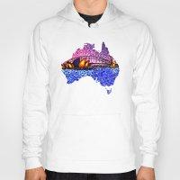 sydney Hoodies featuring Sydney Harbour by Alan Hogan
