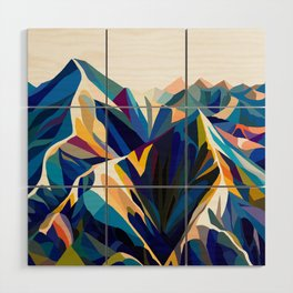 Mountains cold Wood Wall Art