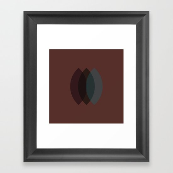 #2 Three sisters – Geometry Daily Framed Art Print