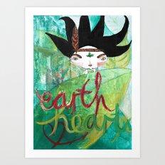 Eart(H)eart Art Print