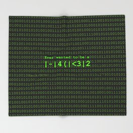 Ever wanted to be a Hacker Throw Blanket