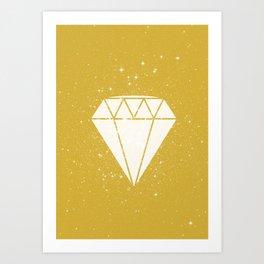 Space Diamond (gold) Art Print