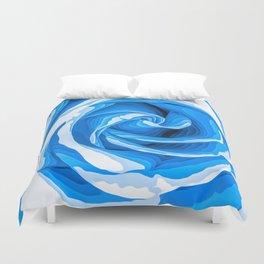 blue rose texture background Duvet Cover