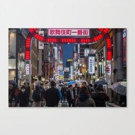 Tokyo Streets Canvas Print