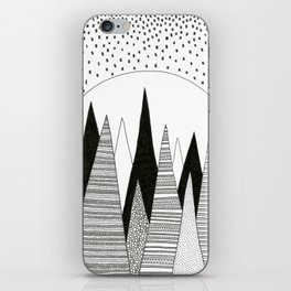 Moonlight Forest (pen on paper) iPhone Skin
