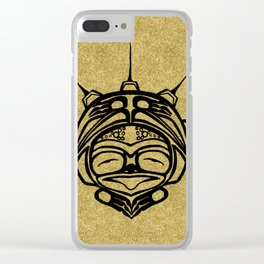 Ink Frog Sand Clear iPhone Case