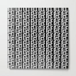 Black and white lines 2 Metal Print
