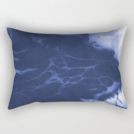 Amio - spilled ink shop watercolor marble marbling japanese printmaking modern abstract design Rectangular Pillow