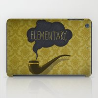 sherlock iPad Cases featuring sherlock by serbangabriel