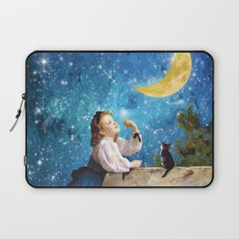 One Wish Upon the Moon Laptop Sleeve