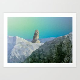 This is Not Easter Island Art Print