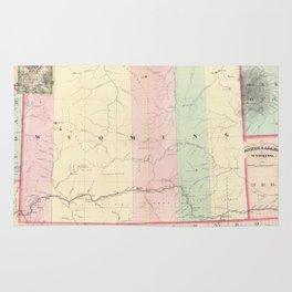 Vintage Map of Wyoming (1874) Rug