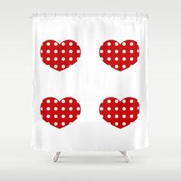 Hearts1 Shower Curtain