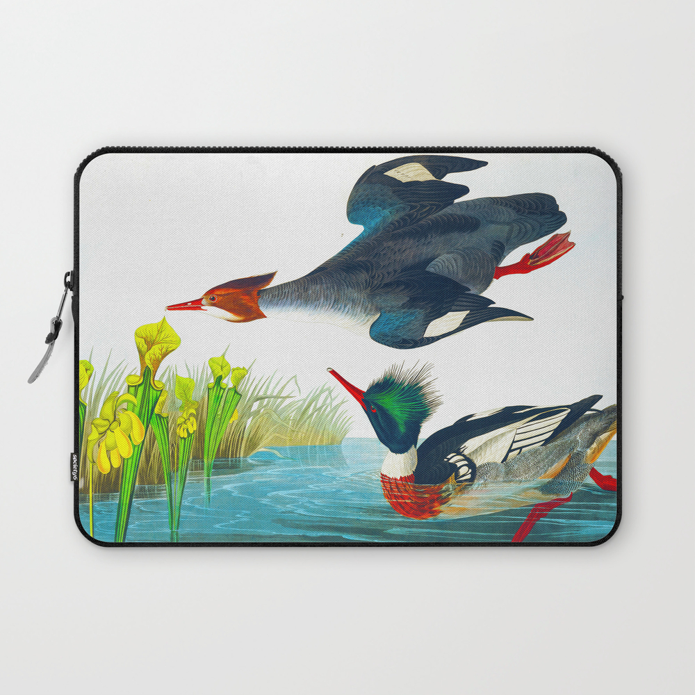 Red-Breasted Merganser Bird Laptop Sleeve by enshape (LSV6419407) photo