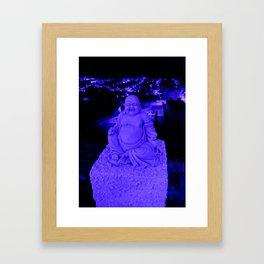 Blue Buddha And The Blue City Framed Art Print
