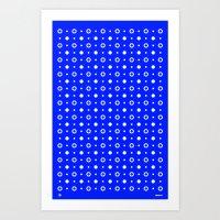 Dots / Blue Art Print