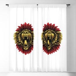 Angry Baboon Monkey Face Mascot Logo Blackout Curtain