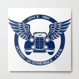Flying Automobile Club Metal Print