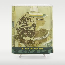 Vintage poster - Luxor, Egypt Shower Curtain