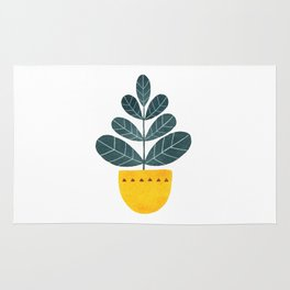 Yellow pot Rug