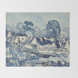 "Vincent van Gogh ""Landscape with Houses"" Throw Blanket"
